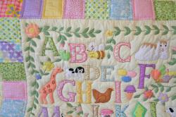 ベビー、出産、祝、ABC、敷物、タペストリー、パッチワーク、パステル